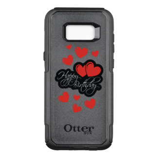 Happy Birthday with two red hearts OtterBox Commuter Samsung Galaxy S8+ Case