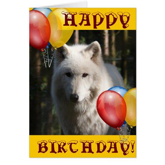 HAPPY BIRTHDAY wolf animal owl Card