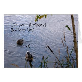 Happy Birthday Wood Ducks Greeting Card