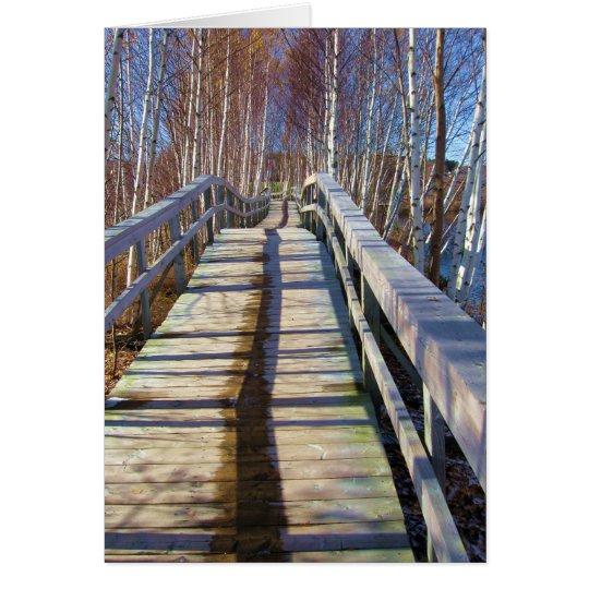 Happy Birthday - Wooden Path Card