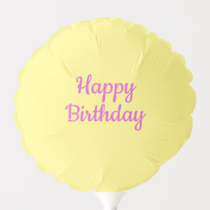 Happy Birthday Yellow Balloon