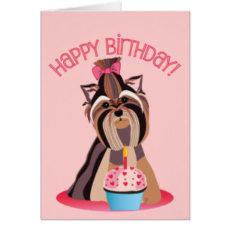 Happy Birthday Yorkshire Terrier Card