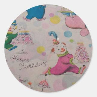 Happy Birthday You Clown Classic Round Sticker