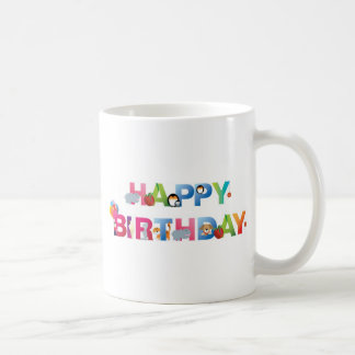 happy birthday young child style mugs
