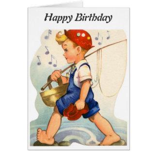 Happy Birthday - Young Fisherman Card