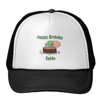 Happy Birthday Zaide Yiddish Grandpa Birthday Desi Mesh Hats