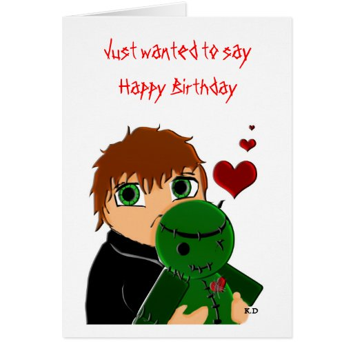 Happy Birthday Zombie Greeting Card
