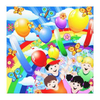 Happy Birthday's Children Kids Gallery Wrap Canvas