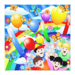 Happy Birthday's Children Kids Gallery Wrapped Canvas