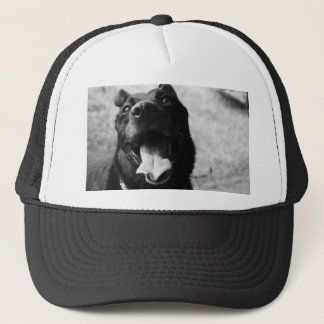 Happy Black Dog Trucker Hat