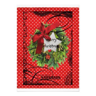 Happy Blessed Christmas pocket bag card Personalized Invites