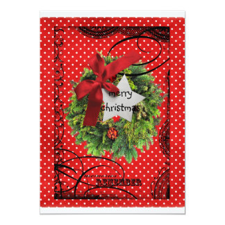 "Happy Blessed Christmas pocket/bag card 5"" X 7"" Invitation Card"