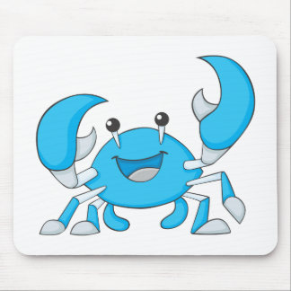 Happy Blue Crab Mouse Pad