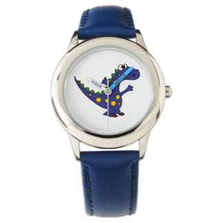Happy Blue Dinosaur Watch
