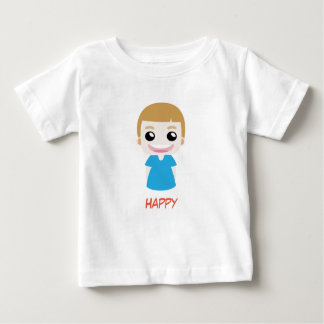 Happy Blue Kid vector T-Shirt