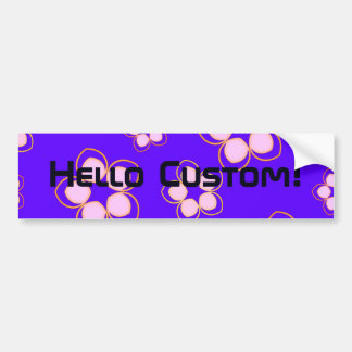 Happy Blue Lotus Flowers Car Bumper Sticker