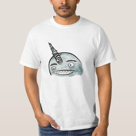 Happy Blue Narwhal Value Shirt
