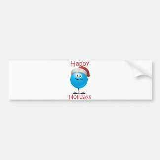 Happy blue ornament wishing a merry christmas bumper stickers