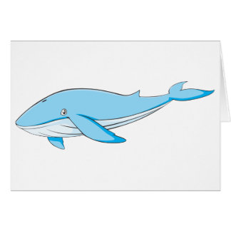 Happy Blue Whale Greeting Card