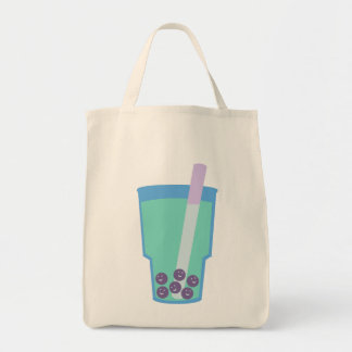 Happy Boba Tea Bubbles Tote Bag