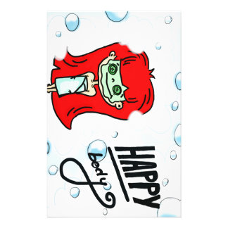 Happy Body & Bath Bubbles Personalised Stationery