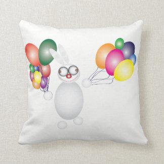 Happy bonny throw pillow