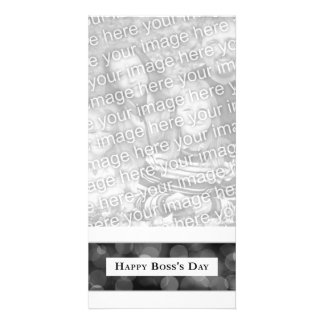 Happy Boss's Day (bokeh) Personalized Photo Card