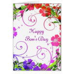 Happy Boss's Day for female boss with custom text Greeting Card