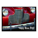Happy Boss's Day  Red Classic Car greeting card
