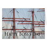 Happy Boss's Day Tall Ship Note Card