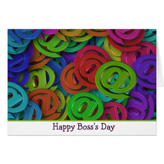 Happy Boss's Day with @ ampersat sign Card