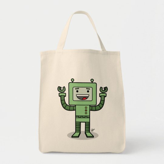 Happy Bot - Grocery Tote