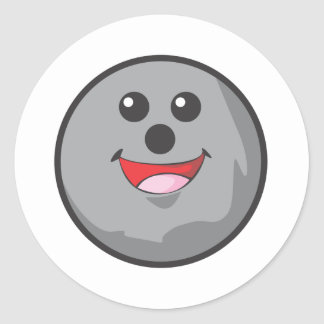 Happy Bowling Ball Stickers