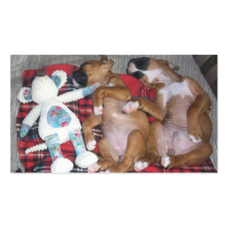 Happy Boxer Puppies Pack Of Standard Business Cards