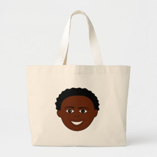 Happy Boy Face Jumbo Tote Bag
