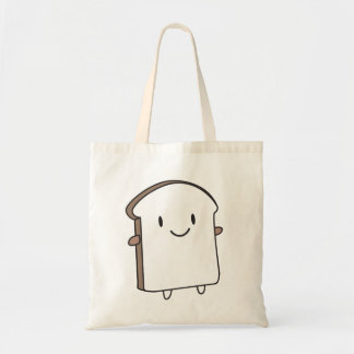 Happy Bread Slice Budget Tote Bag