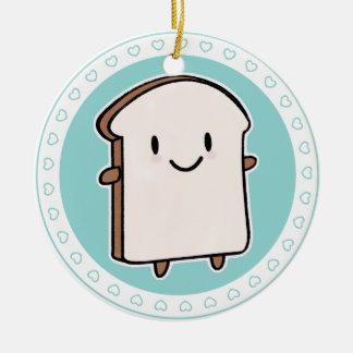 Happy Bread Slice Christmas Ornament