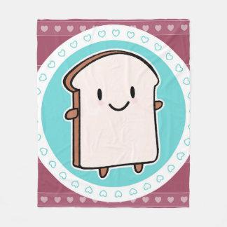 Happy Bread Slice Fleece Blanket