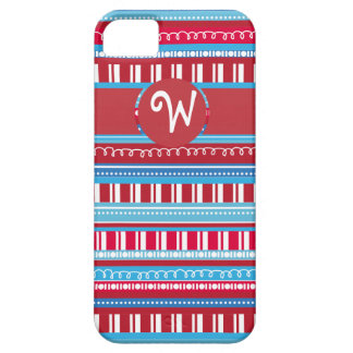 Happy Bright Colorful Red White Blue Stripes iPhone 5 Cover