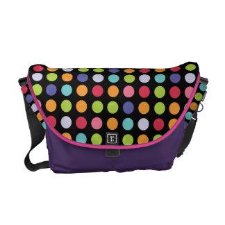 Happy & Bright Rainbow Polka Dot Fun Commuter Bag