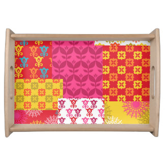 Happy bright retro mix serving tray