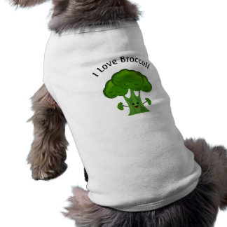 Happy Broccoli Sleeveless Dog Shirt