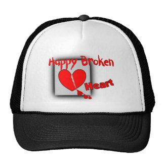 """Happy Broken Heart""--Funny Valentine Gifts Trucker Hats"