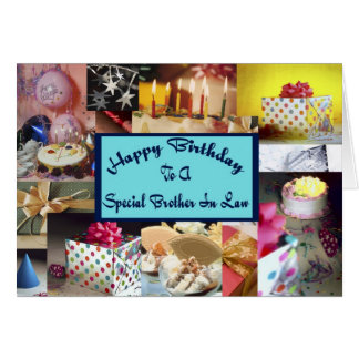 Happy Brother In Law Birthday Greeting Card