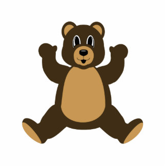 Happy Brown Bear Photo Cut Outs