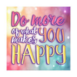 Happy Bubbly Quote Canvas Canvas Print