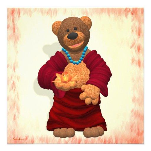 Happy Buddha Bear Invites