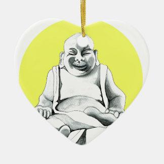 Happy Buddha Christmas Ornament