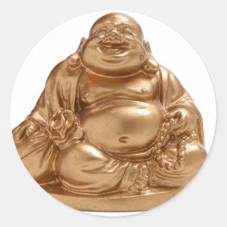 Happy Buddha Round Sticker