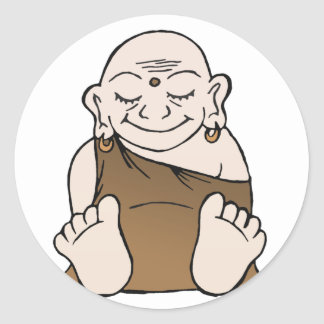 Happy Buddha Stickers